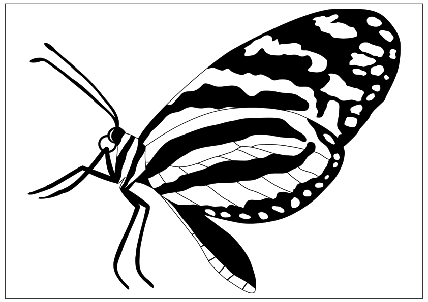 Free Monarch Butterfly Outline, Download Free Clip Art
