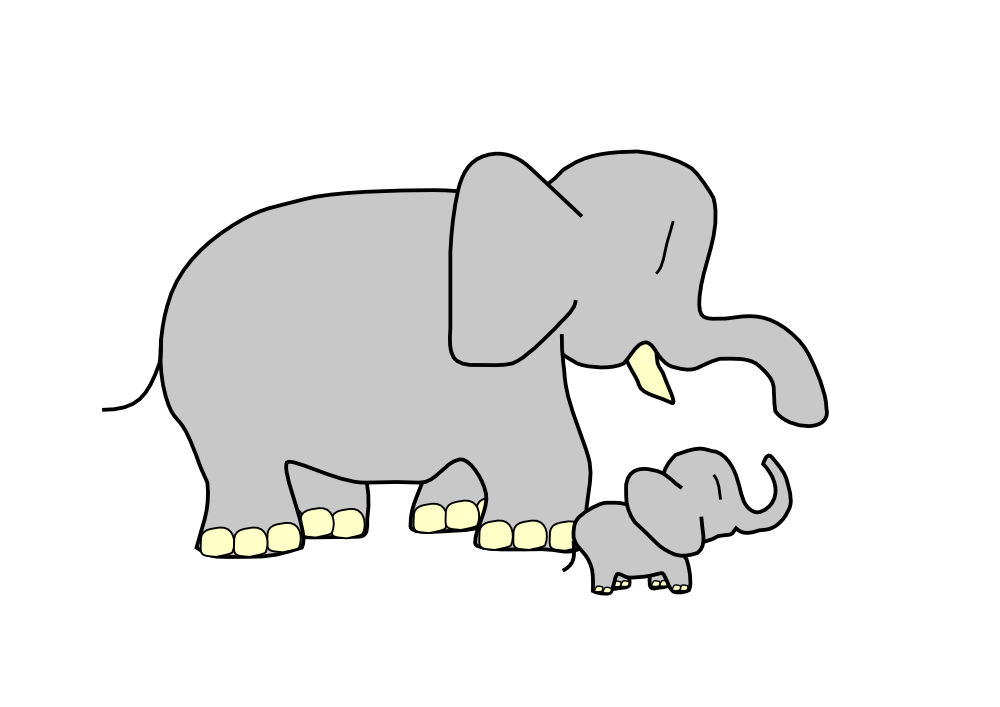 Free Elephant Outline, Download Free Clip Art, Free Clip