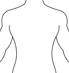 human body outline front and back drawing health token clipart [ 900 x 900 Pixel ]