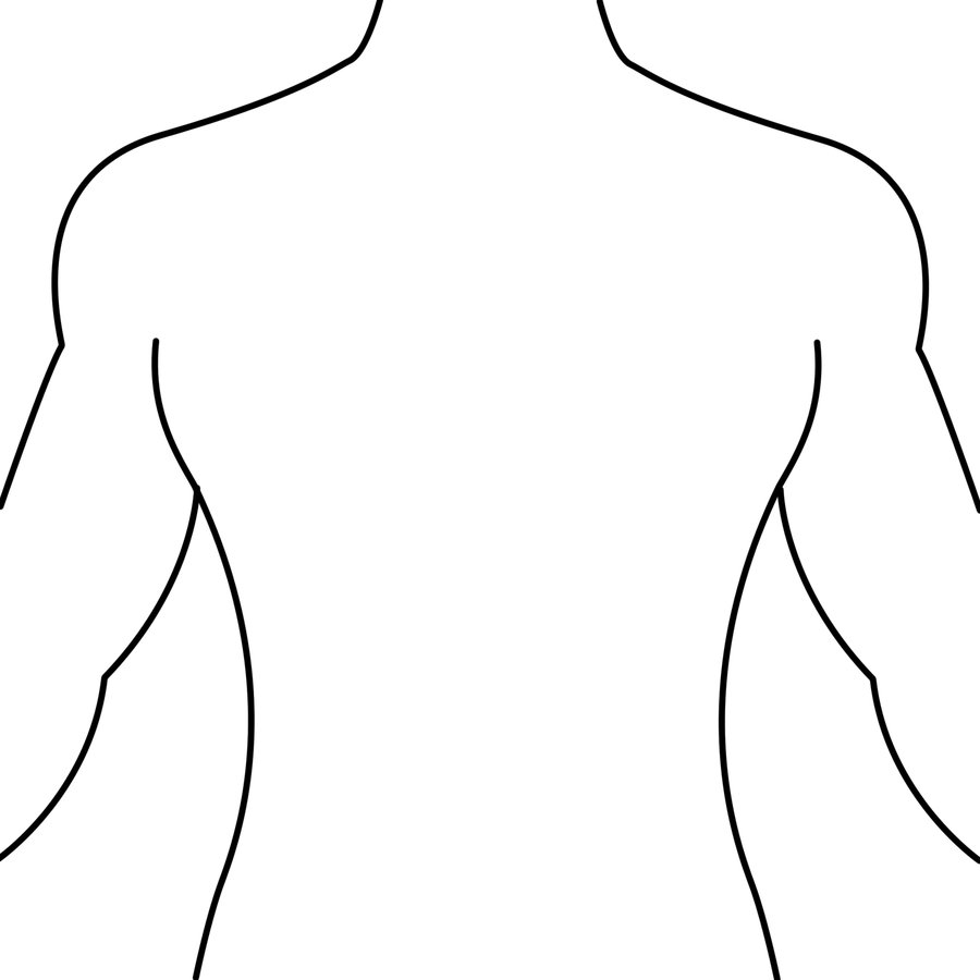 medium resolution of human body outline front and back drawing health token clipart