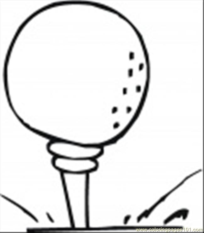 golf balls Colouring Pages