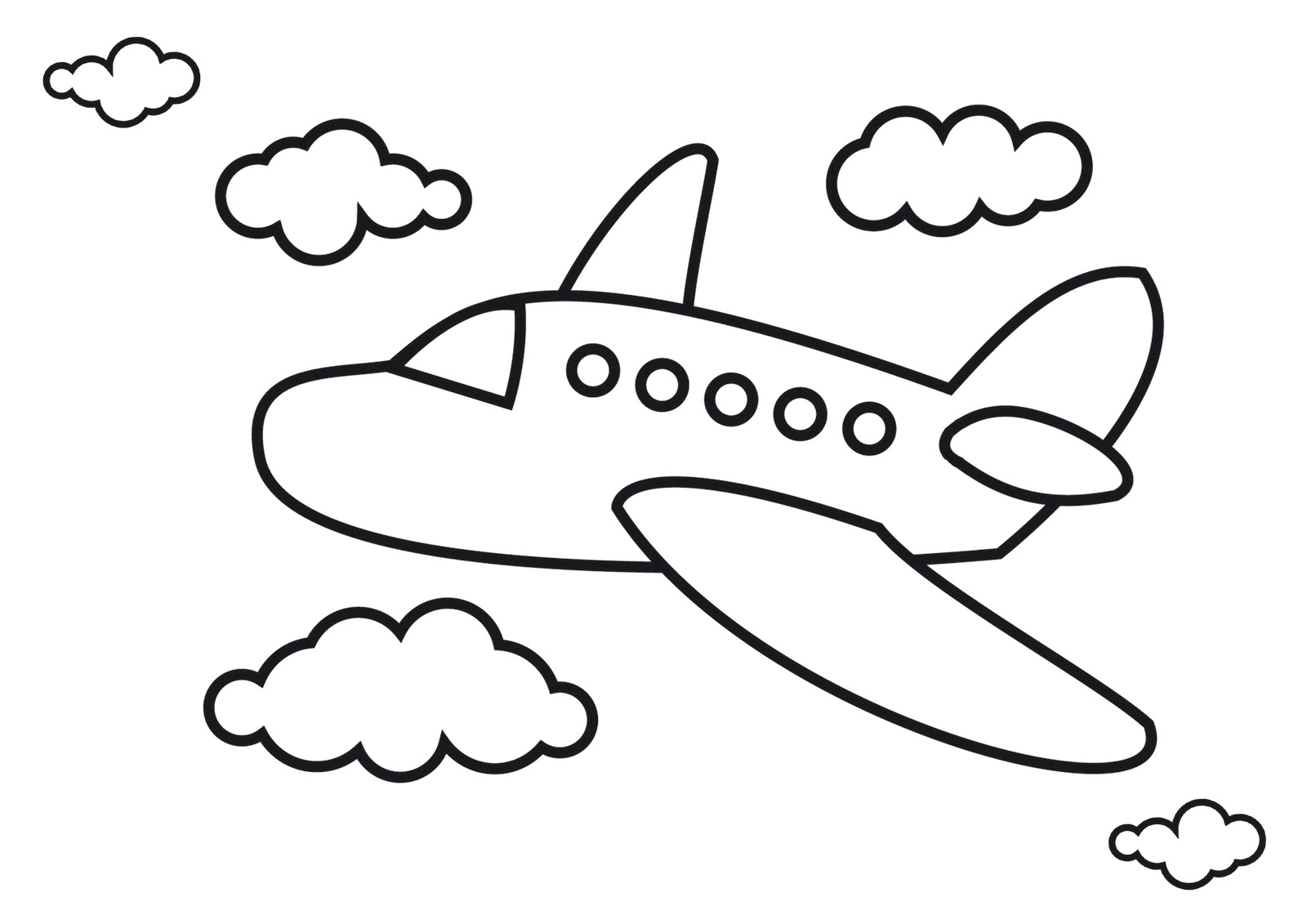 Free Aeroplane Drawing For Kids Download Free Clip Art