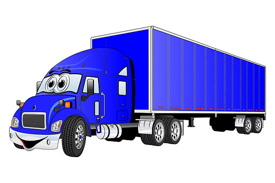 Cartoon Truck And Trailer