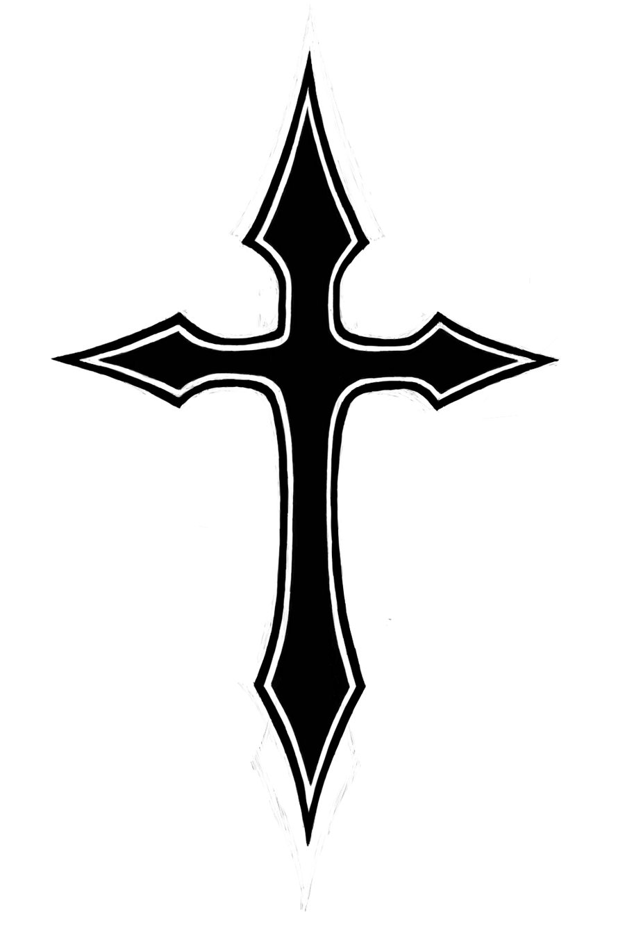 Cross Tattoo Outline : cross, tattoo, outline, Cross, Tattoo, Clipart, Library