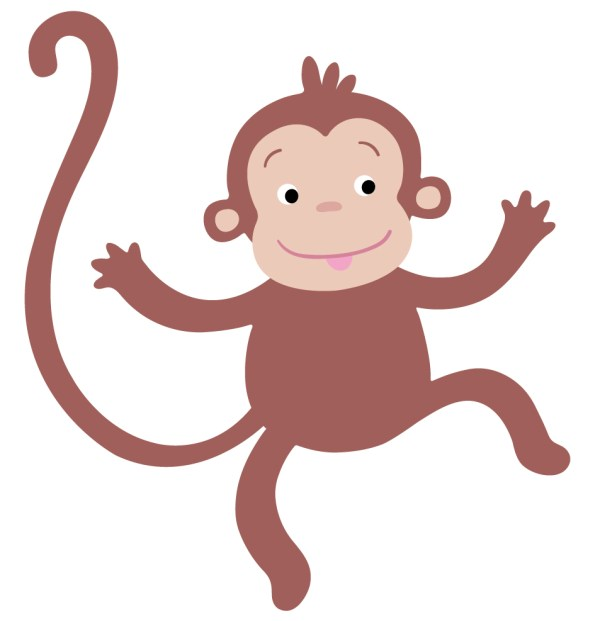 hanging baby monkey template