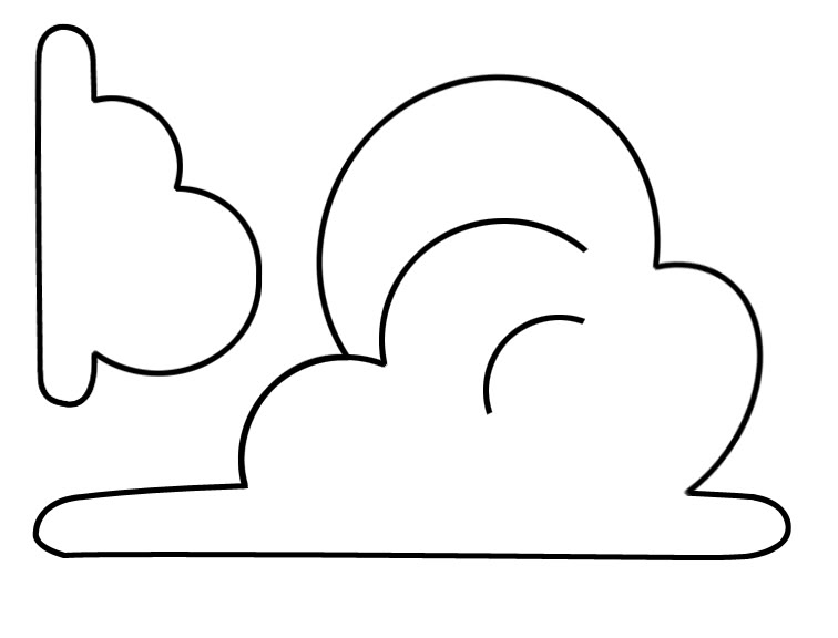 Free Printable Cloud Template, Download Free Clip Art