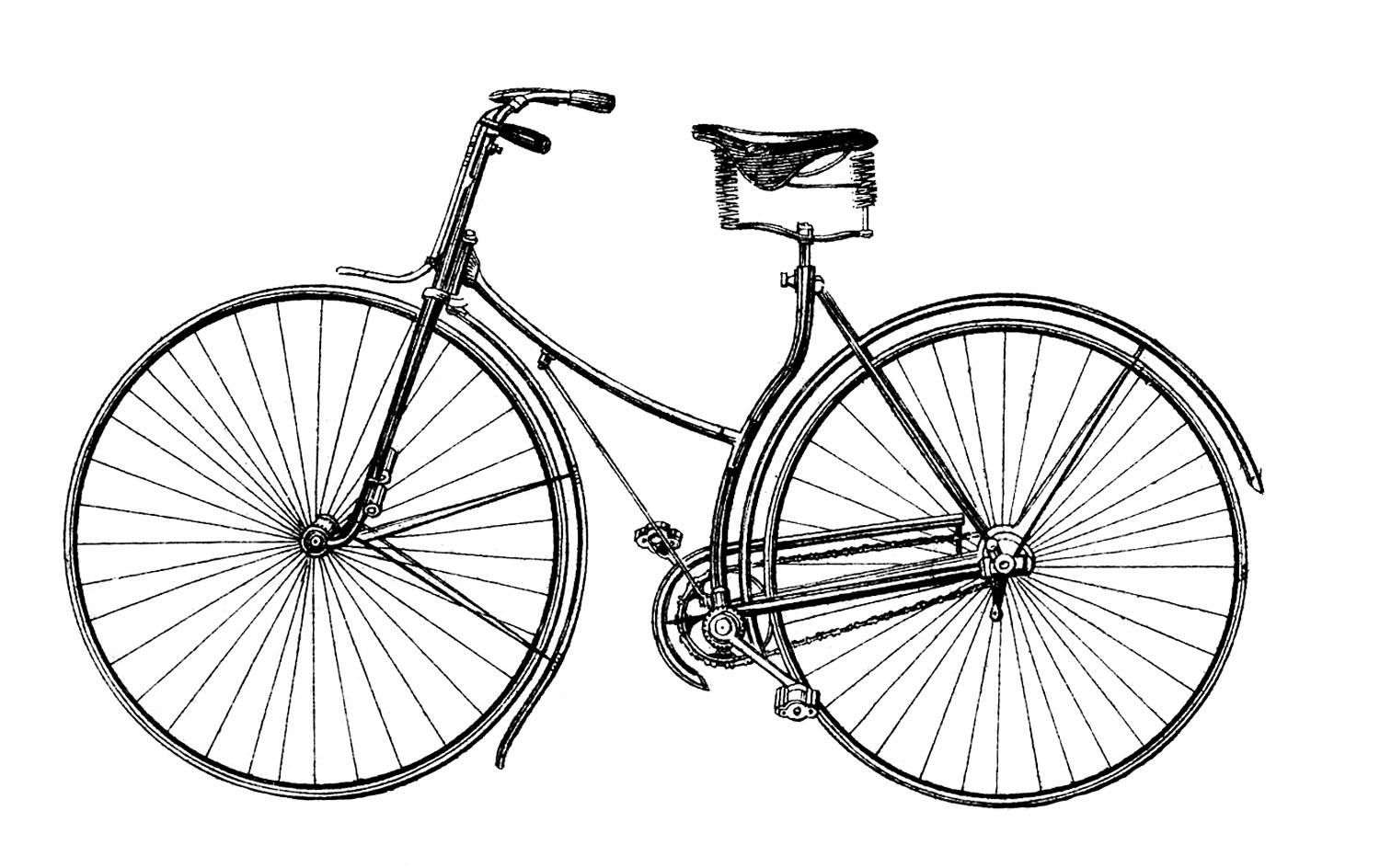 hight resolution of free vector downloads vintage bicycle the graphics fairy