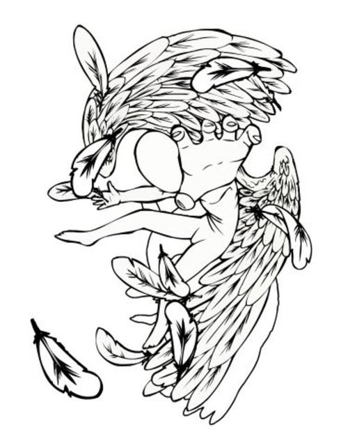 Free Angel Outline Drawing, Download Free Clip Art, Free