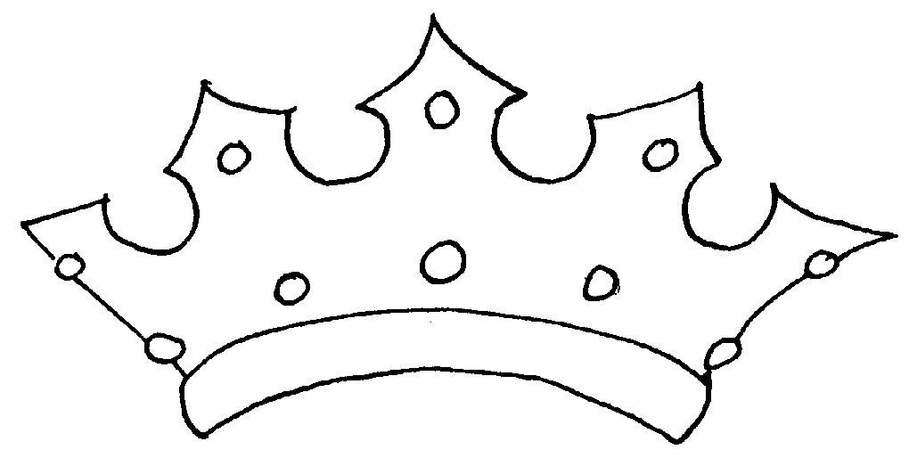 Free Crown Outline Template, Download Free Clip Art, Free