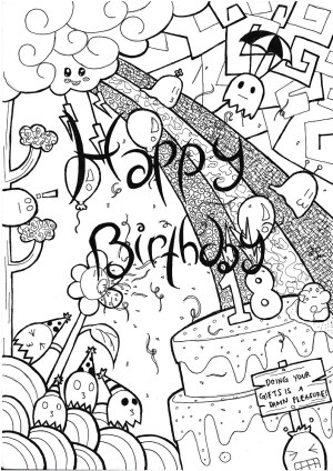 birthday drawing card drawings happy simple hand cards draw library cartoon getdrawings greeting friends clip