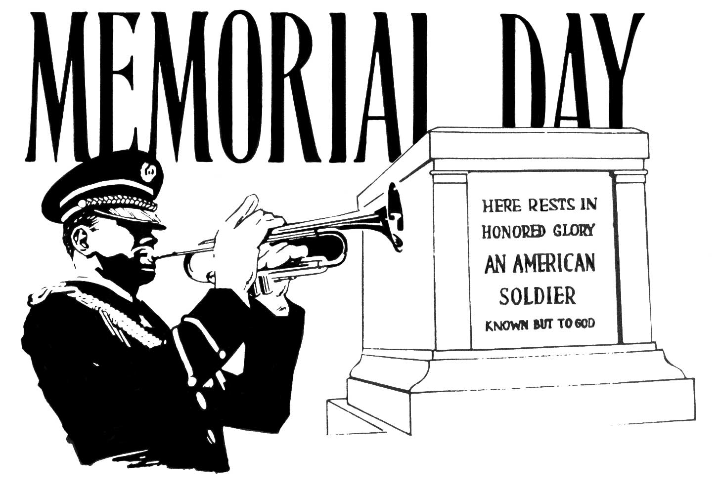 Free Black And White Memorial Day 2014 Clip Art