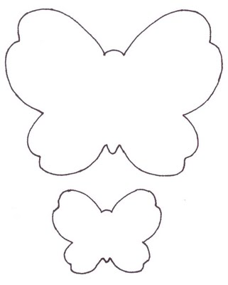 Free Butterfly Outline Pattern, Download Free Clip Art