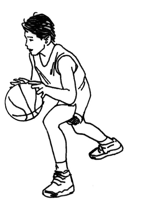 Use Dribble to Pass the Opponent on Basketball Game