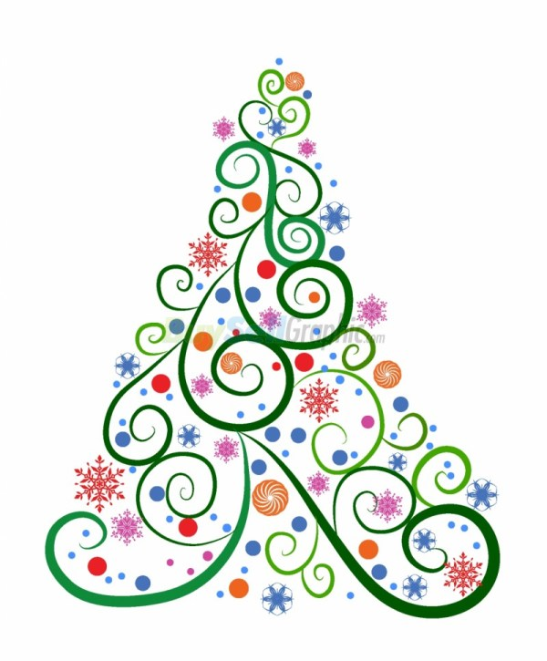 christmas tree vector graphic royalty