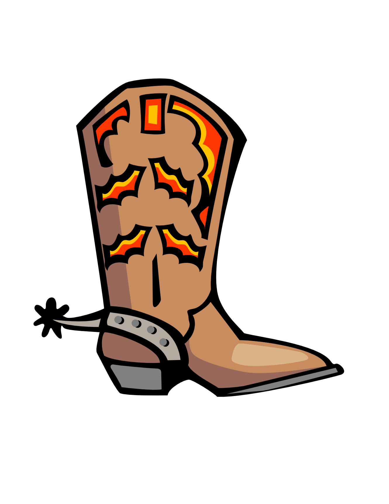hight resolution of cowboy boot clip art clipart library