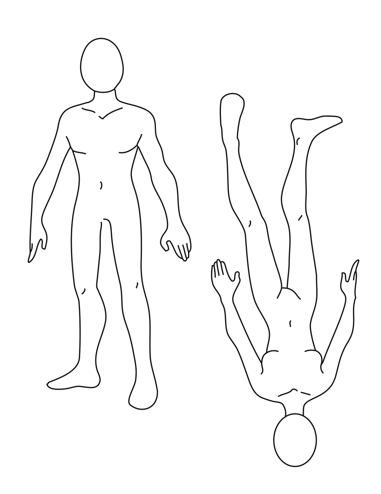 Free Human Body Outline Printable Download Free Clip Art