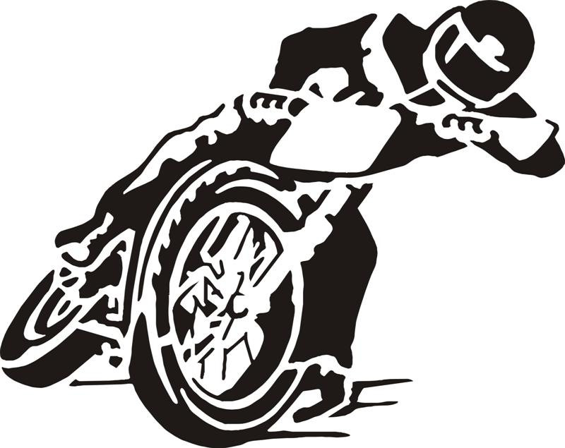 Motorcycle Flat Track Racer Vinyl Wall Decal by mojographics