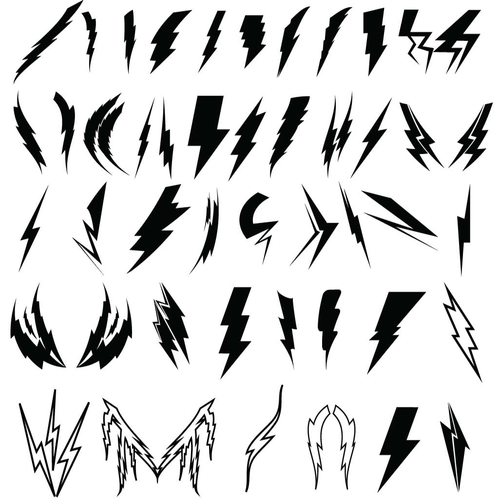Free Lightning Bolt Vector Download Free Clip Art Free