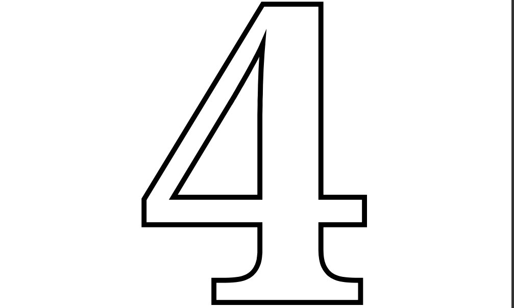 Free Number Four, Download Free Clip Art, Free Clip Art on