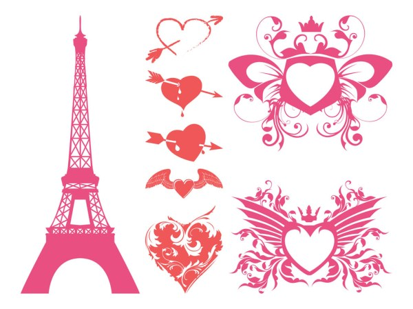 free romantic hearts