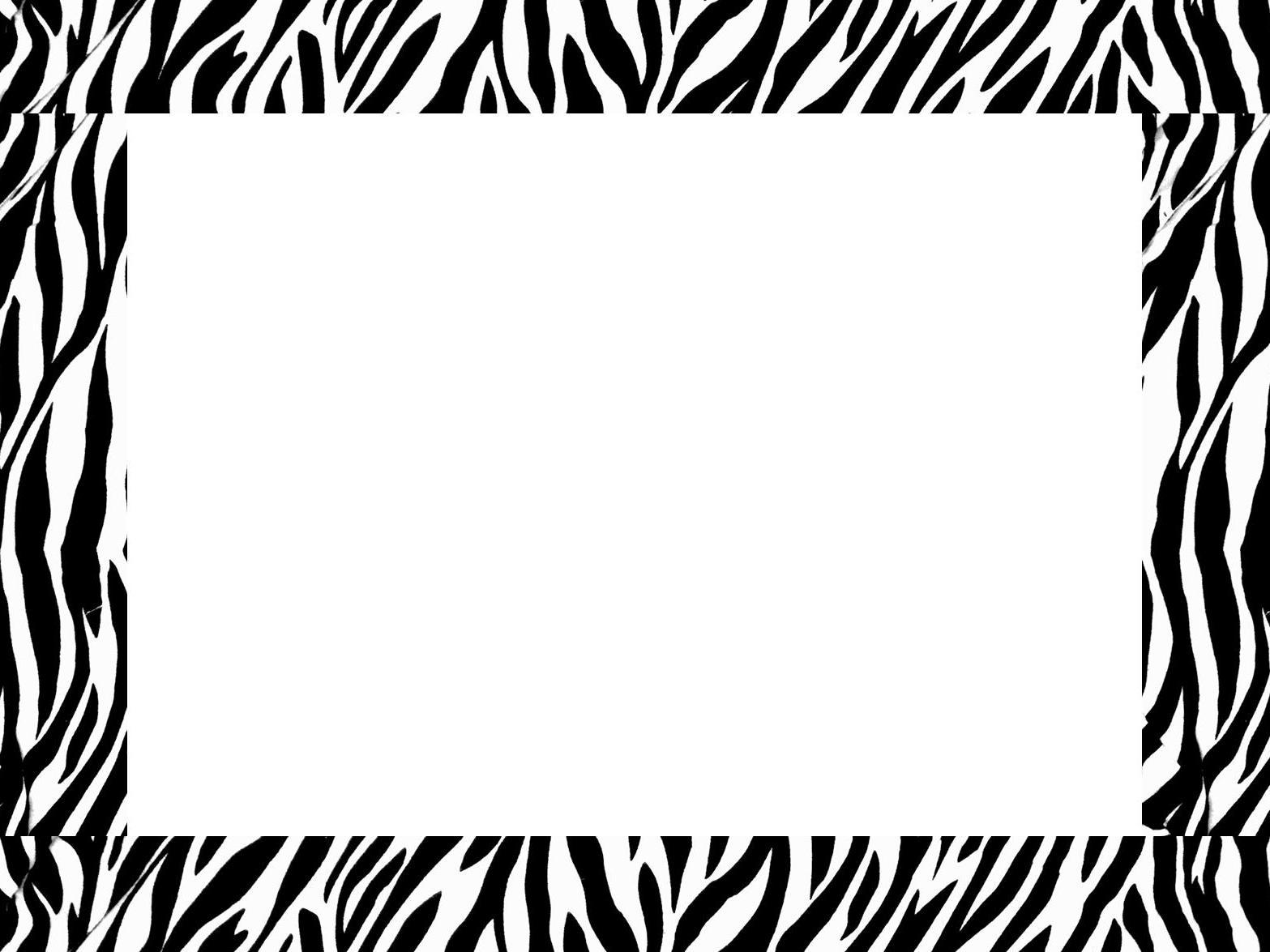 Free Zebra Print Border Template Download Free Clip Art