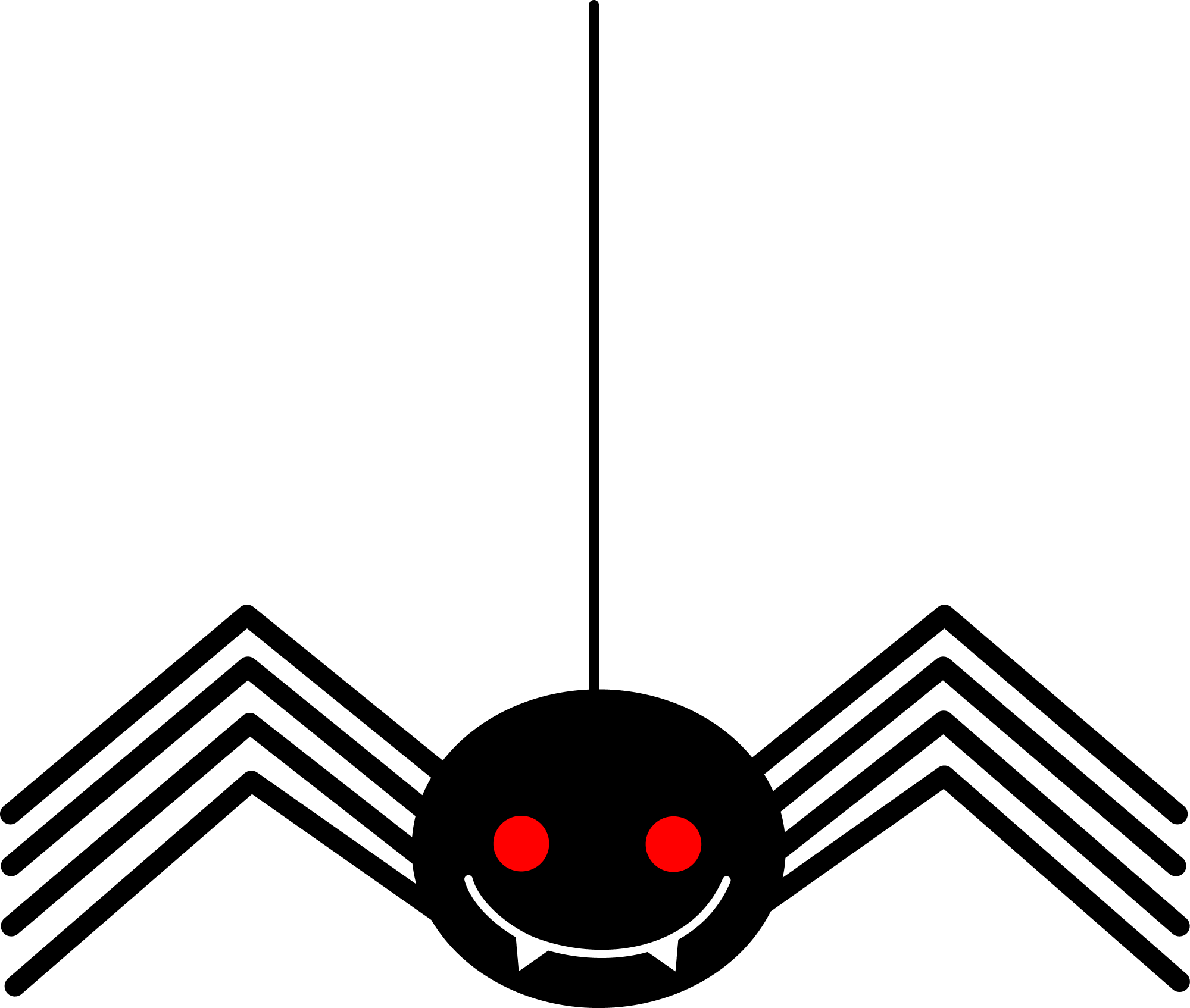 hight resolution of spooky little black halloween spider free clip art