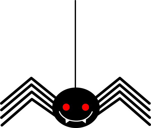 small resolution of spooky little black halloween spider free clip art