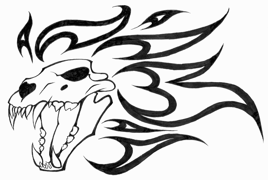 Free Dragon Line Art, Download Free Clip Art, Free Clip