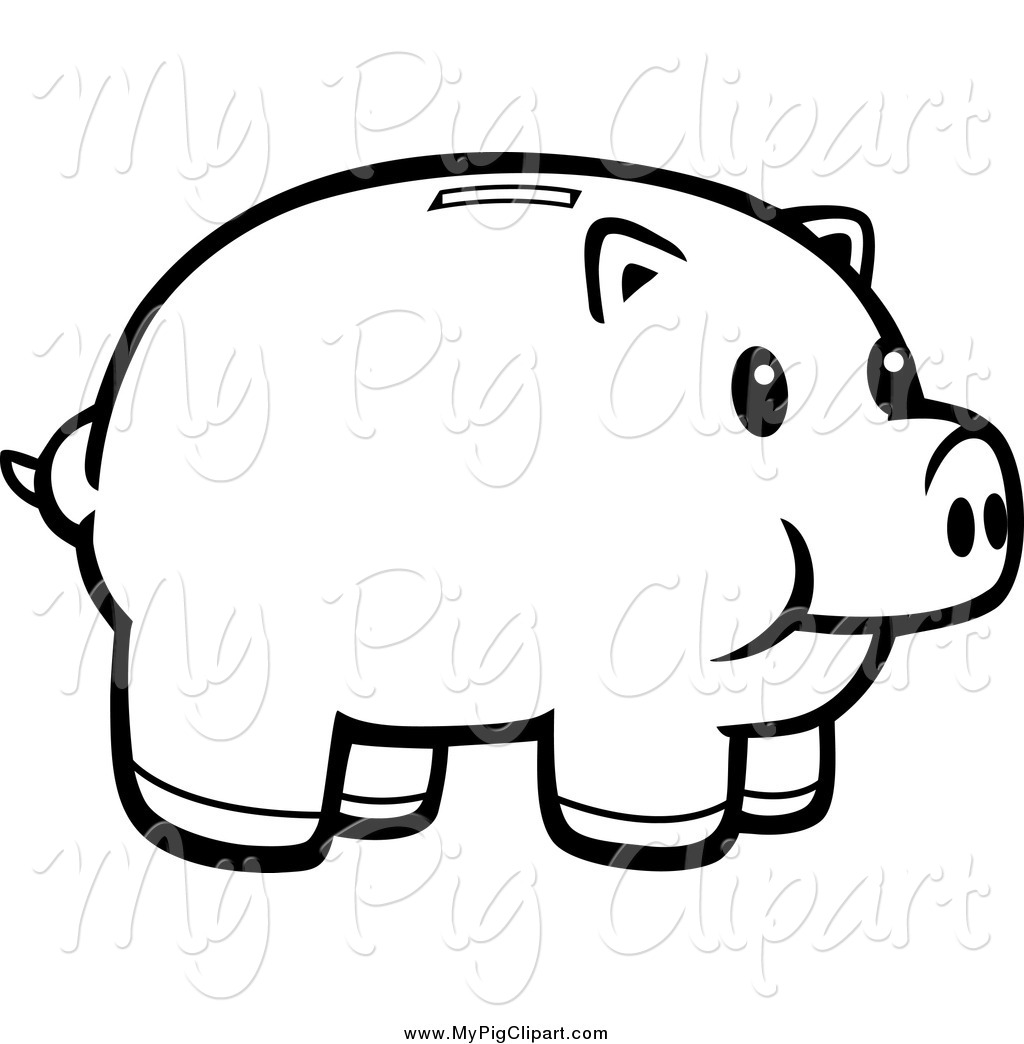 Free Piggy Bank Black And White Download Free Clip Art
