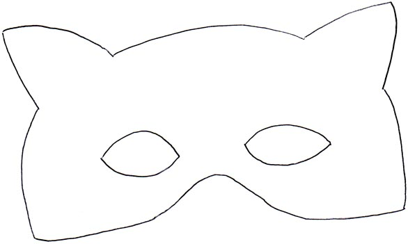 Raccoon mask template