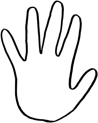 graphic relating to Printable Handprint Template named printable hand template for little ones -