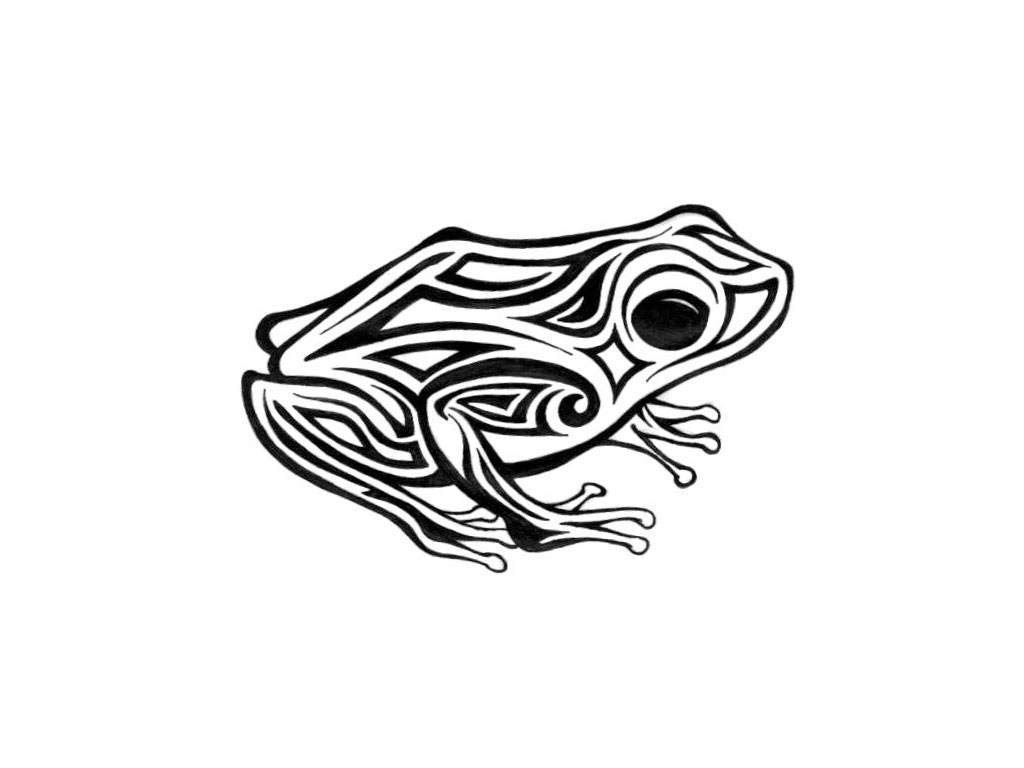 hight resolution of free designs tribal frog with big eyes tattoo wallpaper