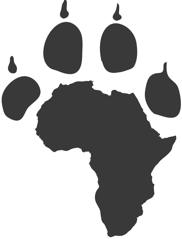 free lion paw print