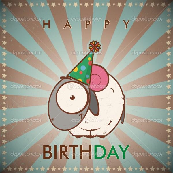 Funny Happy Birthday Cartoon Cards