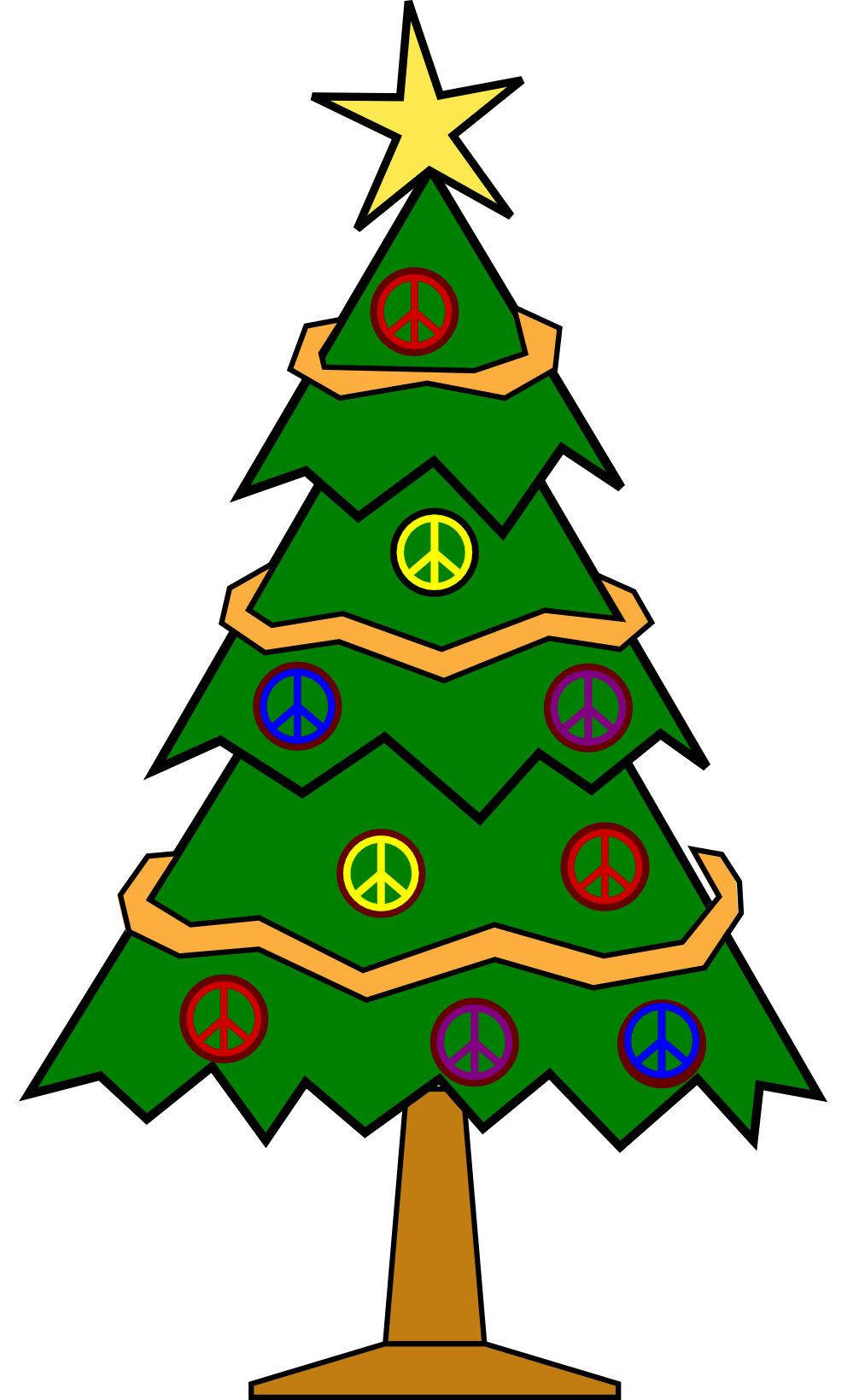 Printable Coloring Pages Christmas Tree