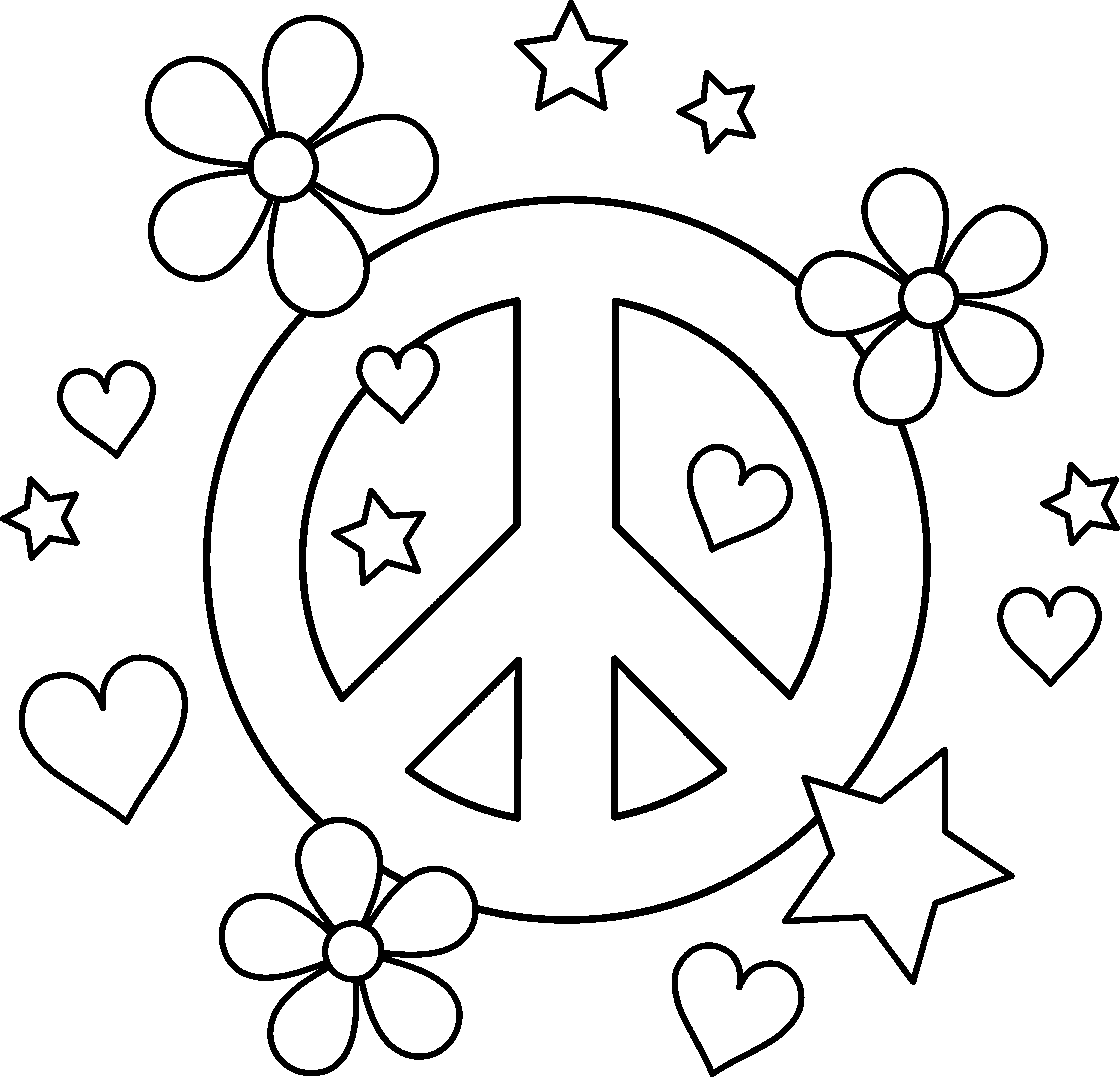 Free Printable Peace Sign Download Free Clip Art Free