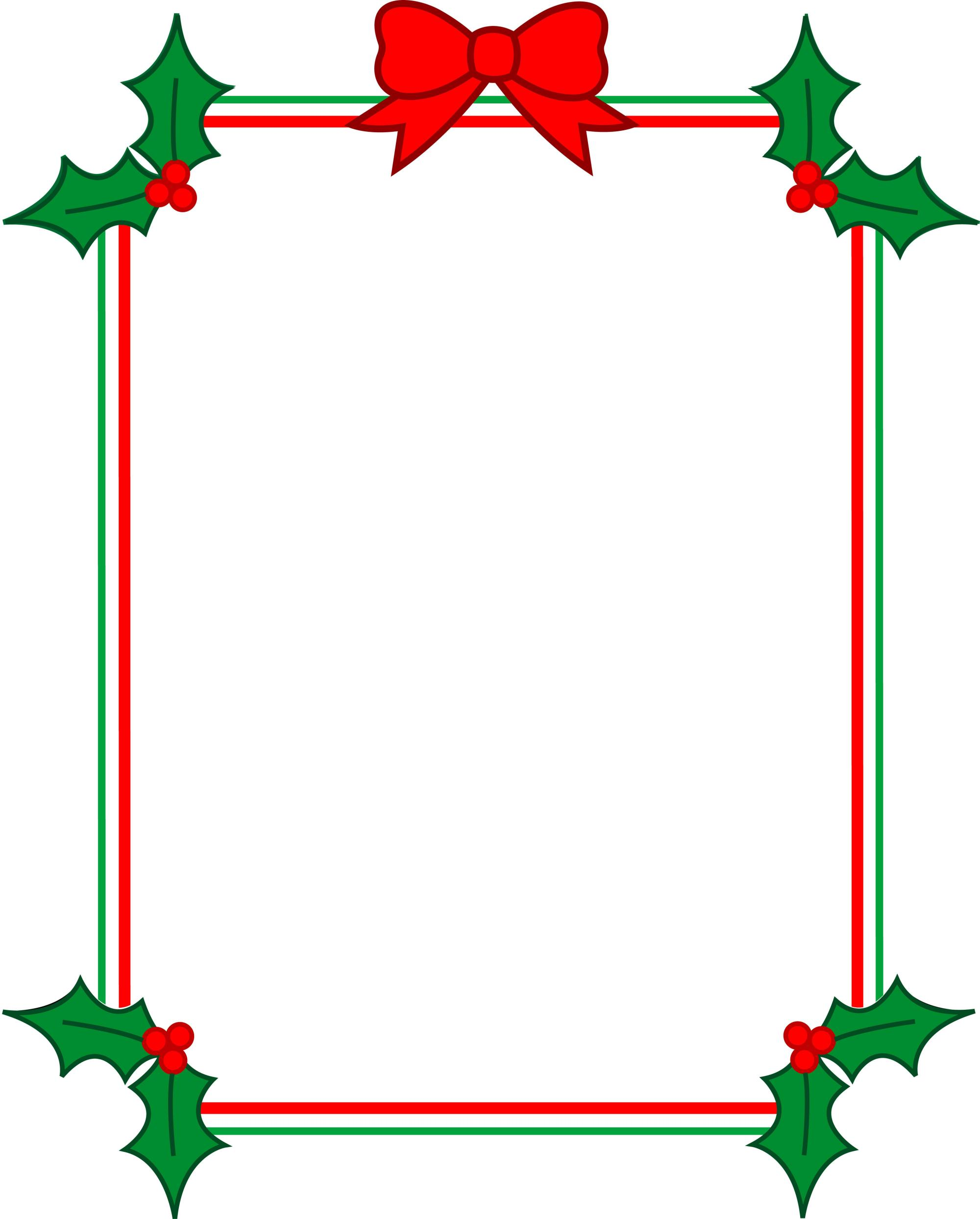 hight resolution of christmas page borders for microsoft word clipart library