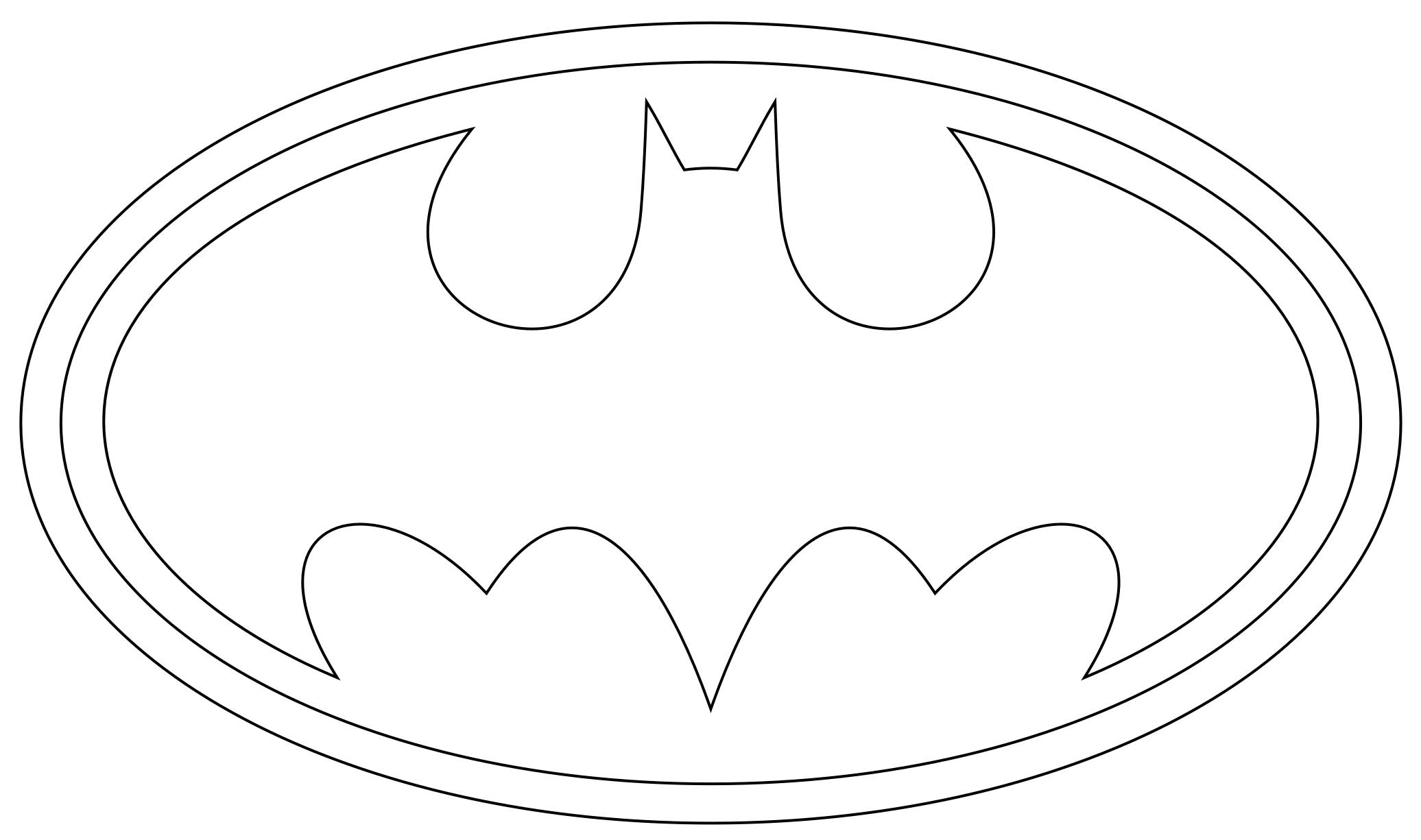 Free Batman Logo Coloring Pages, Download Free Clip Art