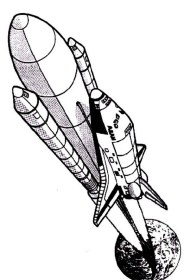 Space Shuttle Drawing For Kids Space Drawing