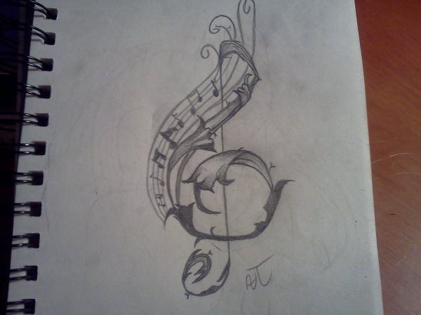 Free Music Note Drawing Clip Art Clipart Library