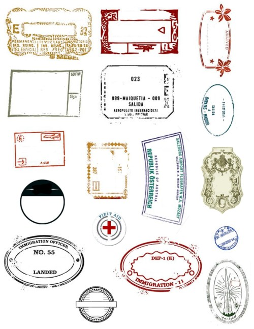 small resolution of passport stamp printables