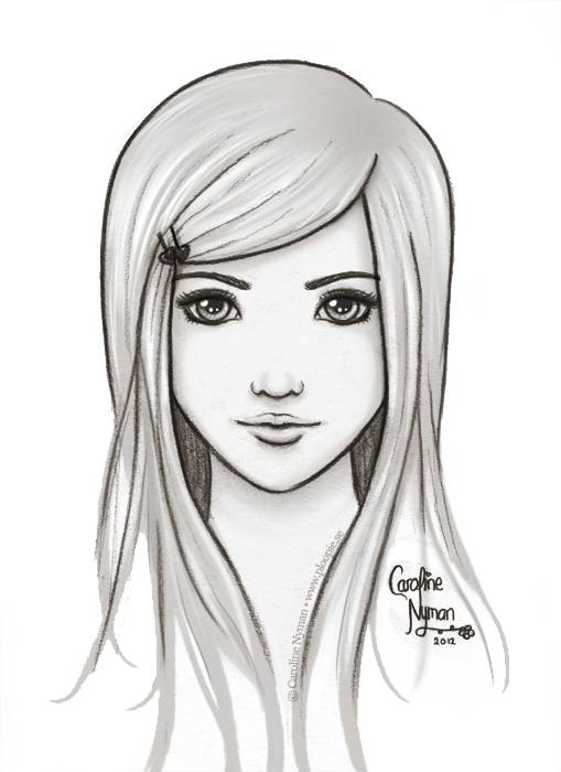 Pictures Of Girls To Draw : pictures, girls, Drawing,, Download, Clipart, Library
