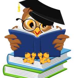owl with school books png clipart picture [ 3308 x 4000 Pixel ]