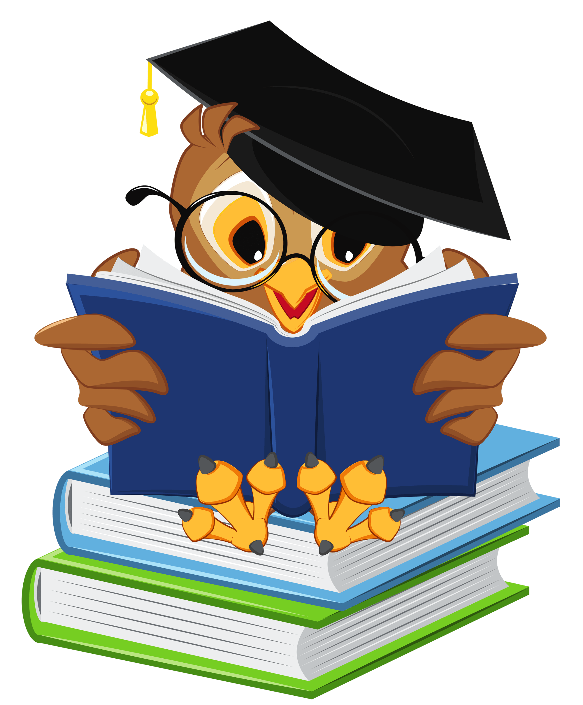 hight resolution of owl with school books png clipart picture