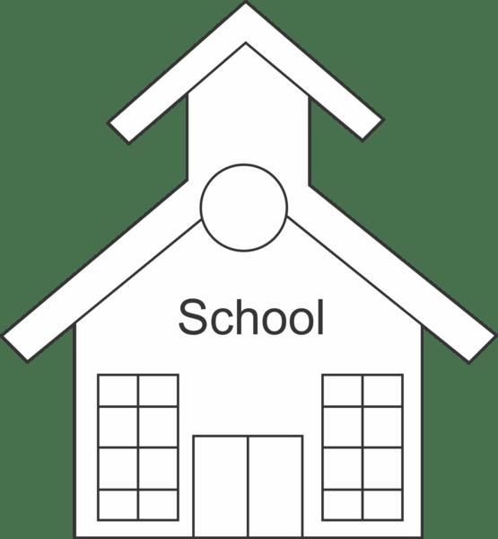 Free School Outline, Download Free Clip Art, Free Clip Art