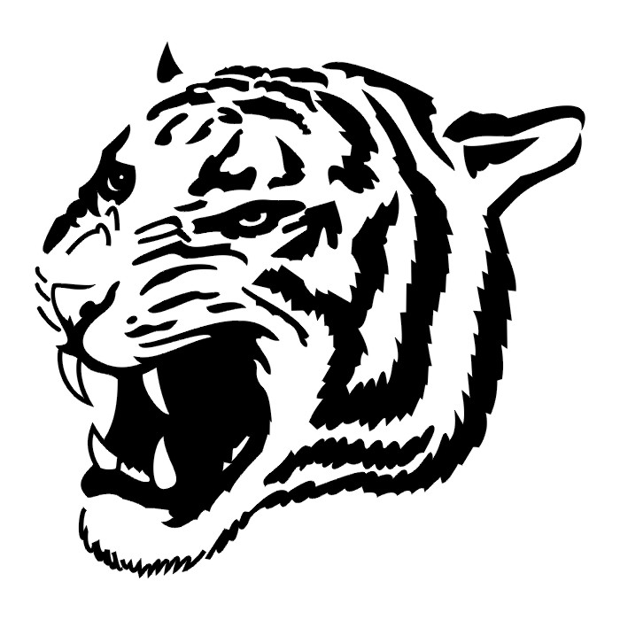 Tribal Lion Face Tattoo Designs