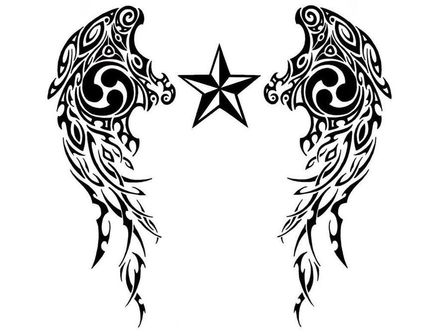 Nautical Star Tribal Tattoo By Littlemisfit138 On