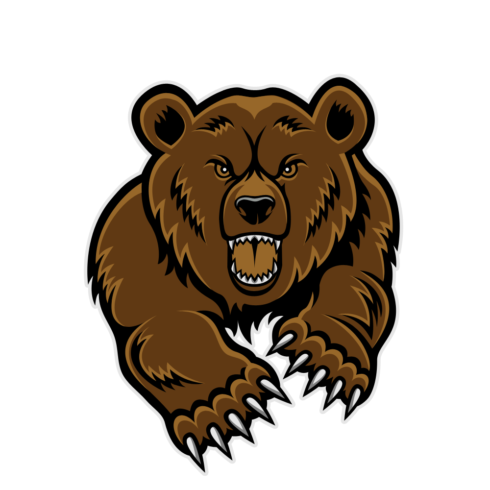 medium resolution of roaring bear clipart clipart library free clipart images