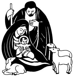 christian christmas clip art black and white jesus christmas [ 1122 x 1151 Pixel ]