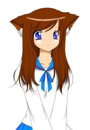 free draw anime cat